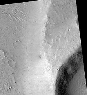 Lunae Palus quadrangle - Image: Maja Valles Streamlined Island