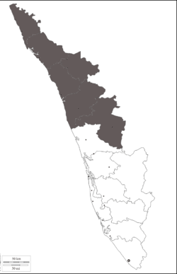 Malabar region in Kerala