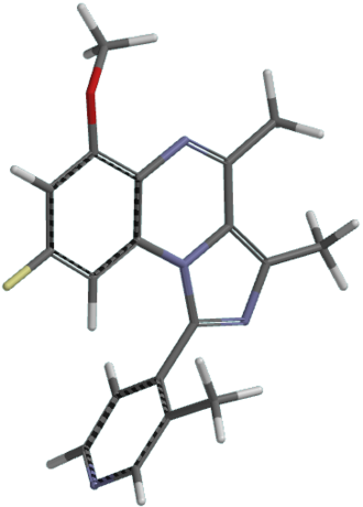 PDE10A - Image: Malamas's PDE10A inhibitor number 96 (2011) in tube model