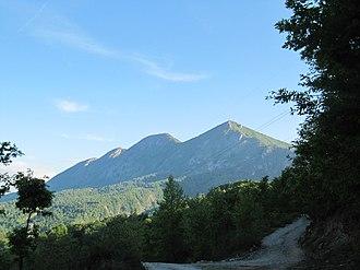 Dajti - Dajt as seen from the east.