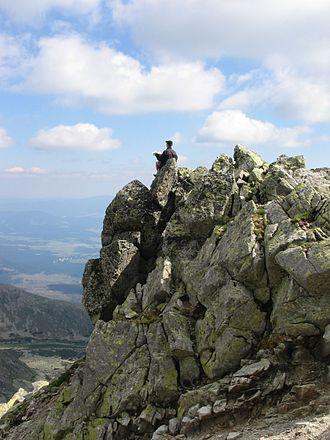 Kriváň (peak) - Ridge below summit