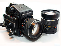 Mamiya M645 1000S with Sekor C 80mm F1.9 lens mounted, and Sekor C 45mm F2.8 lens.jpg