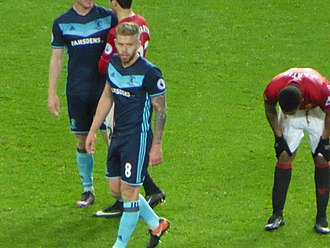Adam Clayton (footballer) - Clayton playing for Middlesbrough in December 2016