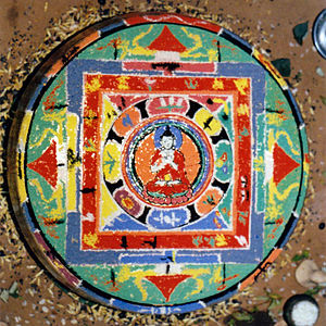 Uray (caste group) - Mandala made on the third day after death as part of the death rituals