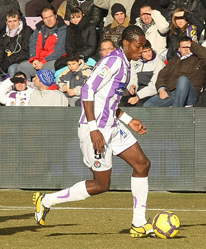 Manucho - Manucho playing for Real Valladolid in 2010