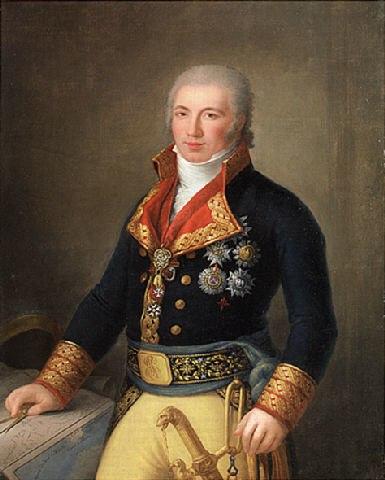 Manuel de Godoy y Alvarez de Faria, 1er Duque de Alcúdia; retratado por Agustín Esteve