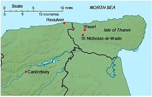 Map of north-east Kent