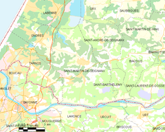 Map commune FR insee code 40273.png