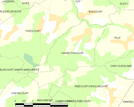 Mapa obce Cannectancourt