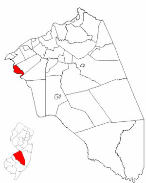 Maple Shade Township, New Jersey - Image: Map of Burlington County highlighting Maple Shade Township