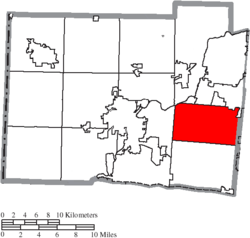 Location of Liberty Township in Butler County