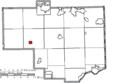 Map of Columbiana County Ohio Highlighting Hanoverton Village.png