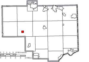 Hanoverton, Ohio - Image: Map of Columbiana County Ohio Highlighting Hanoverton Village