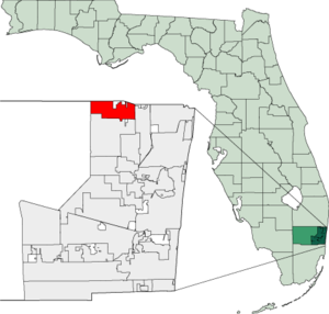 Map of Florida highlighting Parkland.png