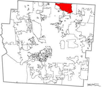 Westerville, Ohio - Image: Map of Franklin County Ohio Highlighting Westerville City