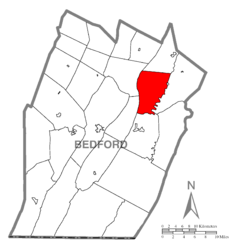 Map of Hopewell Township, Bedford County, Pennsylvania Highlighted.png