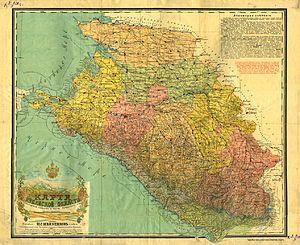Kuban Oblast - Image: Map of Kuban Oblast (1916)