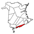 Map of New Brunswick highlighting Saint John County 2.png