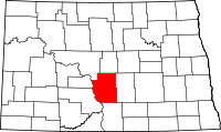 Map of North Dakota highlighting Burleigh County.svg
