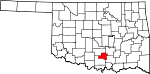 State map highlighting Murray County