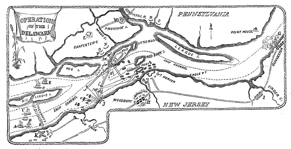 Map of Operations on the Delaware River at Philadelphia, PA Oct-Nov., 1777.jpeg