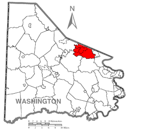 Peters Township, Washington County, Pennsylvania - Image: Map of Peters Township, Washington County, Pennsylvania Highlighted