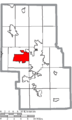 Map of Richland County Ohio Highlighting Ontario City.png