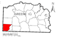 Map of Springhill Township, Greene County, Pennsylvania Highlighted.png