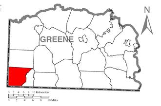Springhill Township, Greene County, Pennsylvania - Image: Map of Springhill Township, Greene County, Pennsylvania Highlighted
