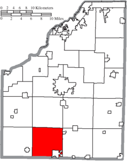 Location of Henry Township in Wood County