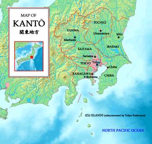 Kantō region - Image: Mapofkanto