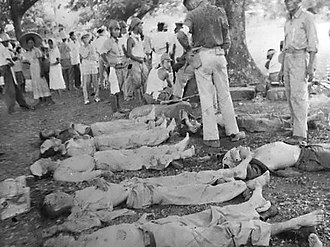 Bataan Death March - Dead soldiers on the Bataan Death March