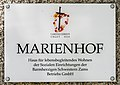 Maria Saal Hauptstrasse 6 Marienhof Einfahrtstor Tafel 03072017 5332.jpg