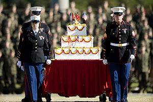 United States Marine Corps birthday - 2008 Birthday celebration at Camp Lejeune