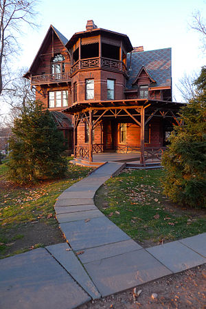 Mark Twain in popular culture - Twain House in Hartford, Connecticut