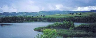 Marsh Creek State Park (California) - Marsh Creek Reservoir in the park.