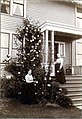 Mary Soule and her sister Mrs McAlpin in front of Soule residence, 1353 32nd Ave S, Seattle, 1899-1900 (SEATTLE 3232).jpg