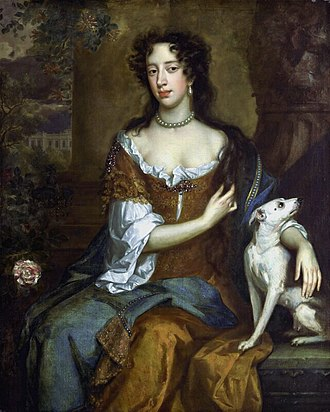 Mary of Modena - Mary of Modena in the year of her husband's accession, 1685. Painting by Willem Wissing.