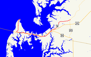 Maryland Route 18 - Image: Maryland Route 18 map