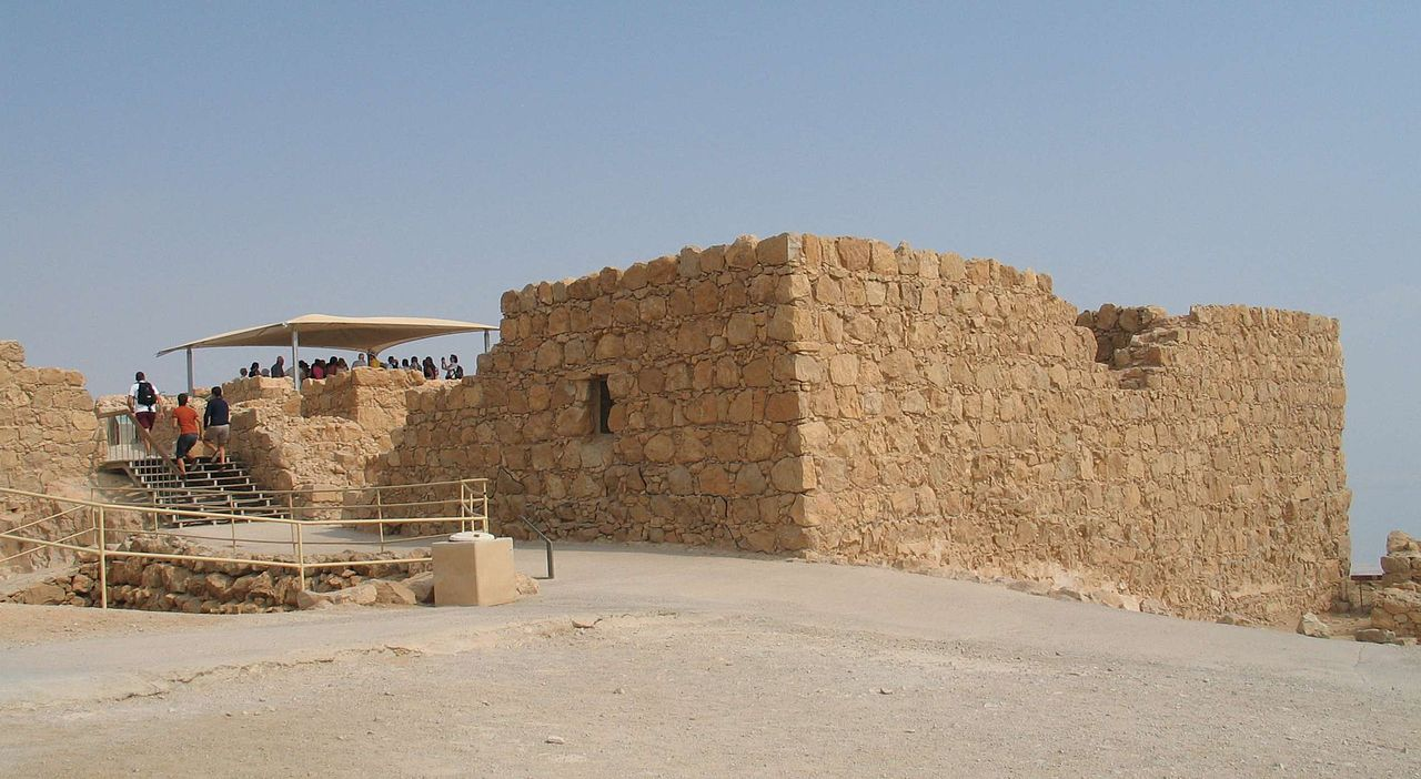 Masada - das Kommandantenhaus / die Residenz - vergrößerbar