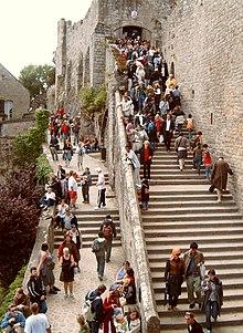 Turismo di massa a Mont Saint-Michel