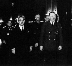 Yōsuke Matsuoka - Matsuoka visits Hitler (March 1941)