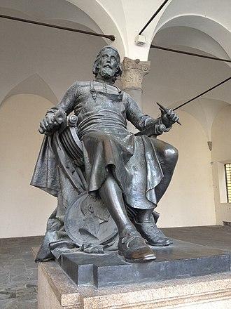 Matteo Civitali - Statue of Civitali (by Arnaldo Fazzi) in the portico of Palazzo Pretoriale, Lucca.