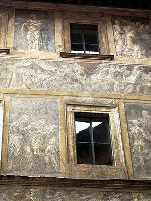 Polidoro da Caravaggio - Palazzo Massimo Istoriato; a fading palace facade in Rome by Polidoro and Maturino, 1523.