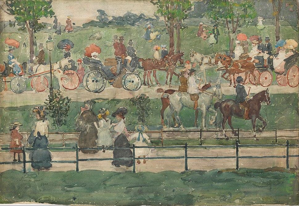 Maurice Prendergast - Central Park, 1900 - Google Art Project