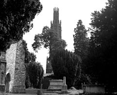 Photograph of Hadlow Castle taken from Church Street, Hadlow in 1977