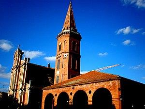 Mazères, Ariège - The church in Mazères