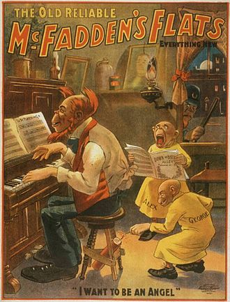 The Yellow Kid - 1902 poster for Gus Hill's stage production of McFadden's Flats