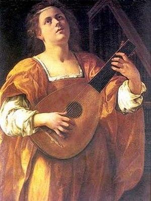 Maddalena Casulana - Artemisia Gentileschi, St Cecilia Playing a Lute, circa 1610-1612, Spada Gallery, Rome.