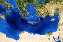 Cartina Geografica Mediterraneo Orientale.Mar Mediterraneo Wikipedia